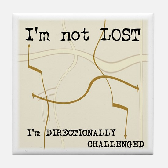 Directionally Challenged Tile Coaster