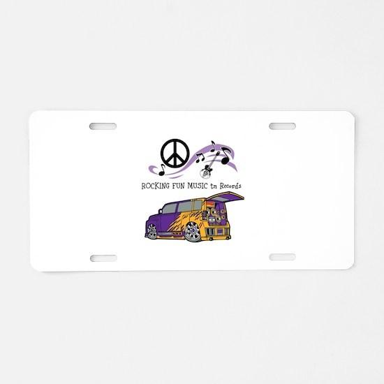 Rocking Fun Music tm Merchand Aluminum License Pla