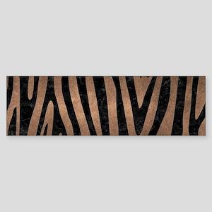 SKIN4 BLACK MARBLE & BRONZE METAL Sticker (Bumper)