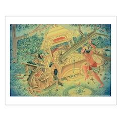 Hanuman fighting Meghnaad