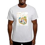 Anatomy Shirt - 'Heart' Ash Grey T-Shirt