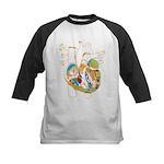 Anatomy Shirt - 'Heart' Kids Baseball Jersey