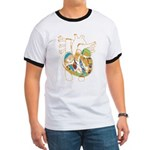 Anatomy Shirt - 'Heart' Ringer T