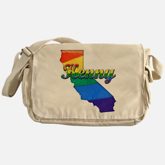 Kenny, California. Gay Pride Messenger Bag