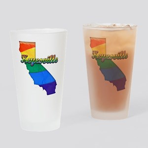 Keyesville, California. Gay Pride Drinking Glass