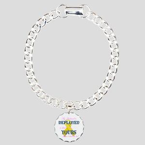 Husband Is Deployed Charm Bracelet, One Charm