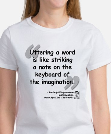 Wittgenstein Word Quote Women's T-Shirt