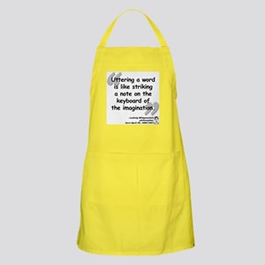 Wittgenstein Word Quote Apron