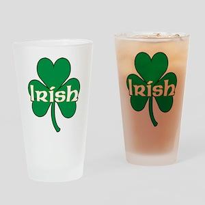 Irish Shamrock Drinking Glass