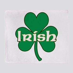 Irish Shamrock Throw Blanket