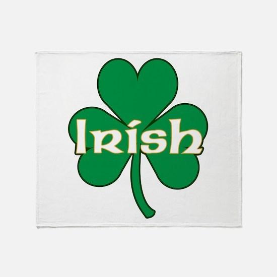 Irish Shamrock Throw Blanket