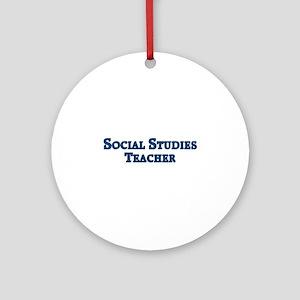 Social Studies Teacher Ornament (Round)