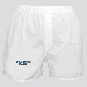 Social Studies Teacher Boxer Shorts