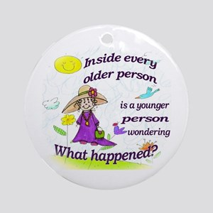 Inside Older Person Ornament (Round)
