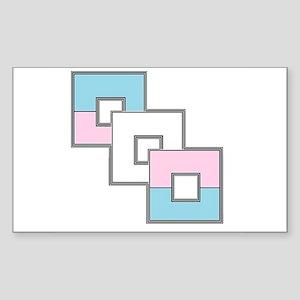 Transgender Pride Sticker (Rectangle)