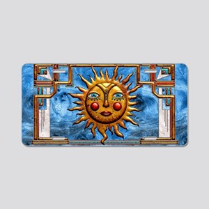 Harvest Moons Folk Sun Aluminum License Plate