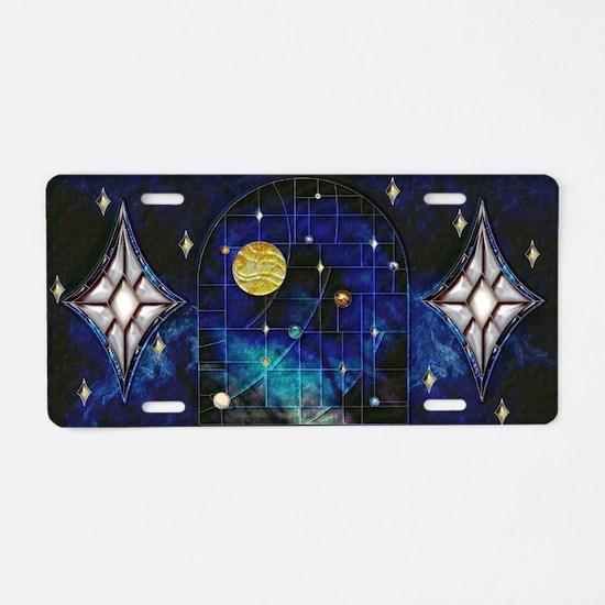 Harvest Moons Solar System Aluminum License Plate