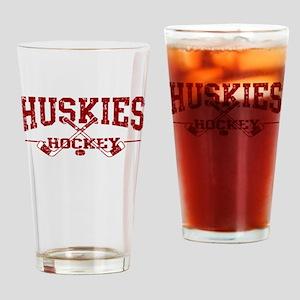 Huskies Hockey Drinking Glass