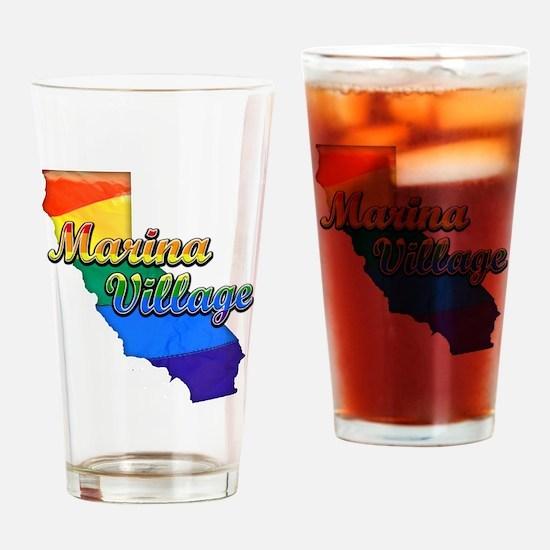 Marina Village, California. Gay Pride Drinking Gla