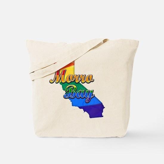 Morro Bay, California. Gay Pride Tote Bag