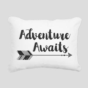 Adventure Awaits Rectangular Canvas Pillow