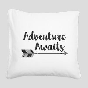 Adventure Awaits Square Canvas Pillow