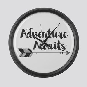 Adventure Awaits Large Wall Clock