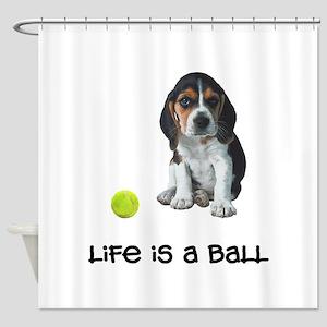 Beagle Life Shower Curtain
