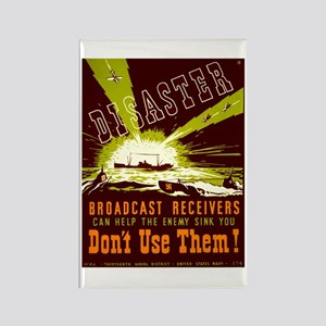 Broadcast Receivers WPA Poster Rectangle Magnet