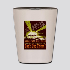 Broadcast Receivers WPA Poster Shot Glass