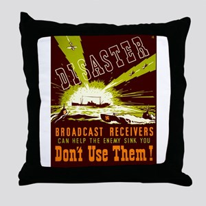 Broadcast Receivers WPA Poster Throw Pillow