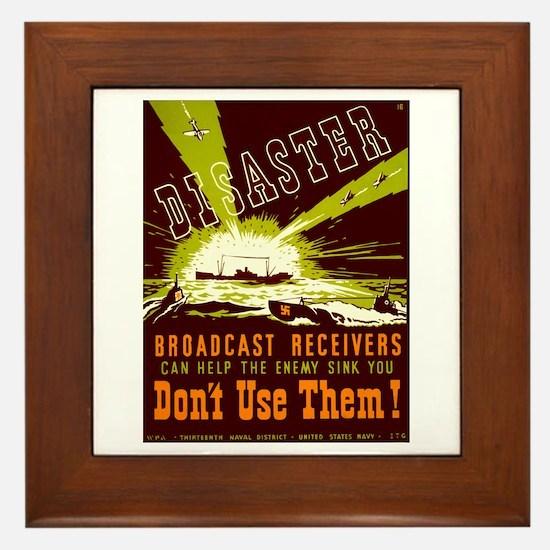Broadcast Receivers WPA Poster Framed Tile