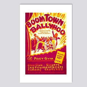 Boomtown Ballyhoo WPA Poster Postcards (Package of