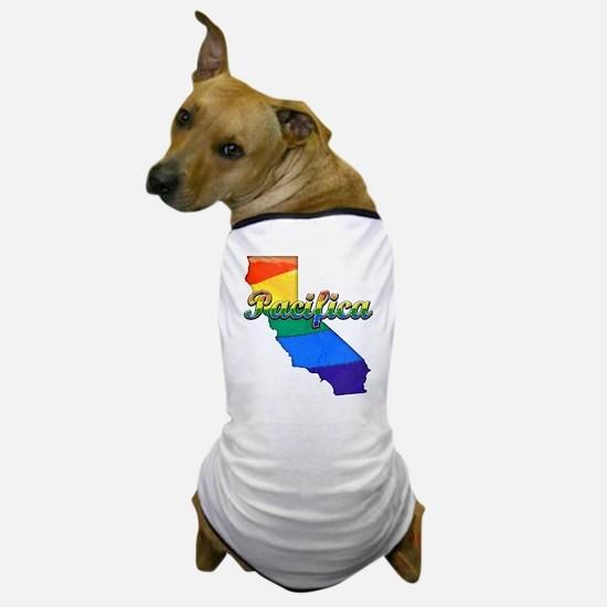 Pacifica, California. Gay Pride Dog T-Shirt