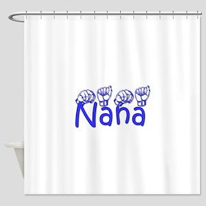 Nana-blue Shower Curtain