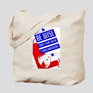 Firecrackers WPA Poster Tote Bag