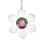 Monster - Rustic Snowflake Ornament