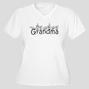 Grandma w/text Women's Plus Size V-Neck T-Shirt