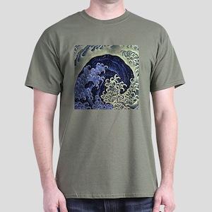 Hokusai Feminine Wave Dark T-Shirt