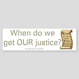 """Justice"" Bumper Sticker"