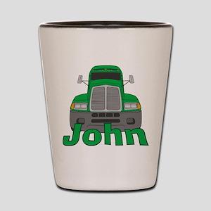 Trucker John Shot Glass