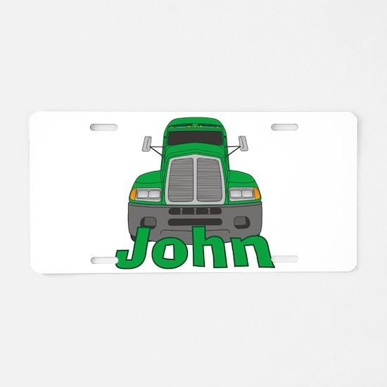 Trucker John Aluminum License Plate