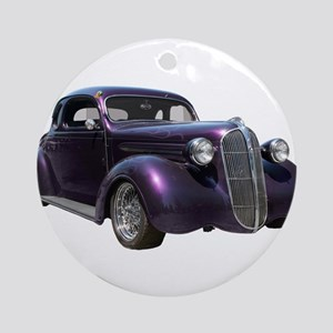1937 Plymouth P3 Business Cou Ornament (Round)