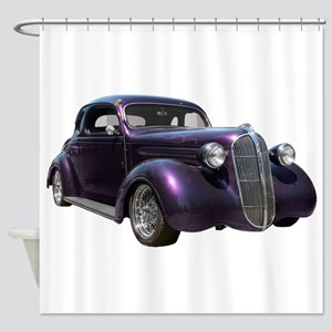 1937 Plymouth P3 Business Cou Shower Curtain