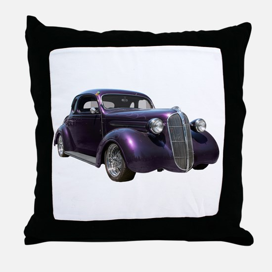 1937 Plymouth P3 Business Cou Throw Pillow