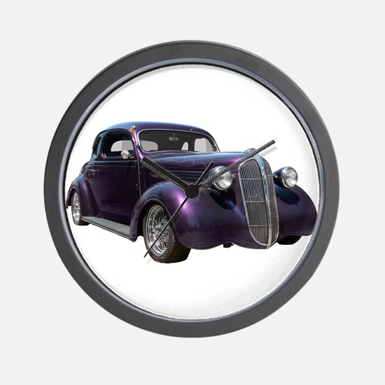 1937 Plymouth P3 Business Cou Wall Clock