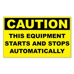 Caution Starts and Stops Automatically
