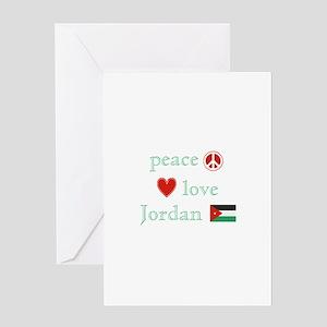 Peace, Love and Jordan Greeting Card