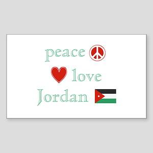 Peace, Love and Jordan Sticker (Rectangle)