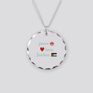 Peace, Love and Jordan Necklace Circle Charm
